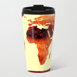 World Map Earth Tones Travel Mug