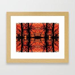 Forest's Fire Framed Art Print