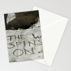 Spin right round Stationery Cards