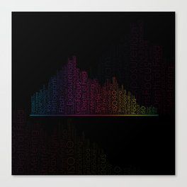 Photography Terms Word Cloud Histogram Canvas Print