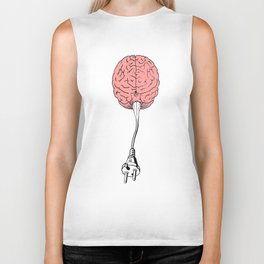 Unplug your mind Biker Tank
