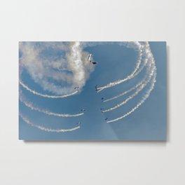 RAF Falcons parachute display team Metal Print