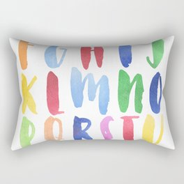 Watercolor Alphabet Rectangular Pillow