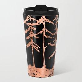 THE THREE SISTERS Trees Rose Gold Travel Mug