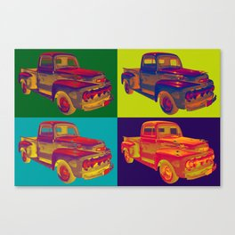 Colorful 1951 Ford F-1 Pickup Truck Pop Art  Canvas Print
