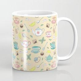 Pretty Vintage Teacups Afternoon Tea Pattern Coffee Mug