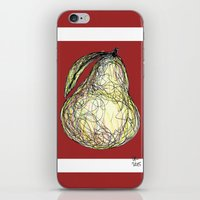 pear iPhone & iPod Skins featuring Pear by Ursula Rodgers