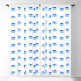 Envelope and mail 2- blue Blackout Curtain