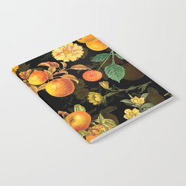 Vintage & Shabby Chic - Midnight Golden Apples Garden Notebook