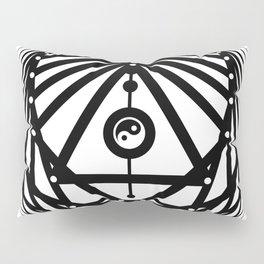 Radiant Abundance (white-black) Pillow Sham