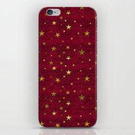 Chenille Claret Stars iPhone Skin