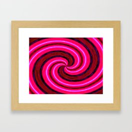 Abstract Pink Modern Framed Art Print