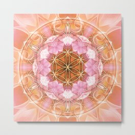 Flower of Life Mandalas 18 Metal Print