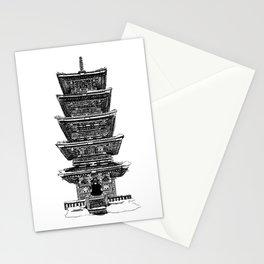 Ink Drawing | Nikko Pagoda Stationery Cards
