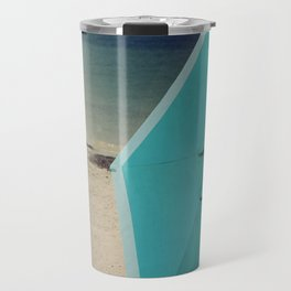 Aqua Beach Umbrella Travel Mug
