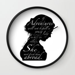 JANE AUSTEN Wall Clock