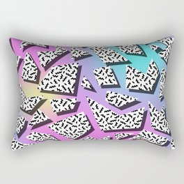 Pattern in memphis style with geometric shapes Rectangular Pillow