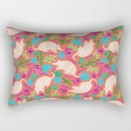 Warm Wishes Armadillos and Desert Florals Rectangular Pillow