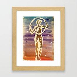 Starry hoop Framed Art Print