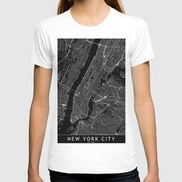 New York City Black Map T-shirt