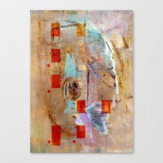 abstract in beige Canvas Print