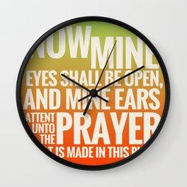 WHEN I KNEEL Wall Clock
