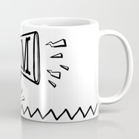 scream Mugs featuring SCREAM by Andrea Vietti