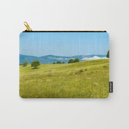 Green rolling hills and the Carpathians Carry-All Pouch