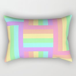Woven Rainbow 2 Rectangular Pillow