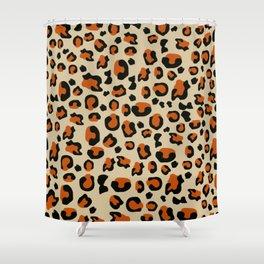 Jungle - Leopard Pattern Beige Shower Curtain