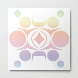 Future Abstract Alien Symbol Cotton Candy Metal Print