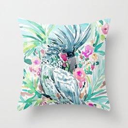 ROCCO the Palm Cockatoo Throw Pillow