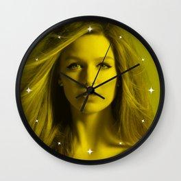 Melissa Benoist - Celebrity (Florescent Color Technique) Wall Clock