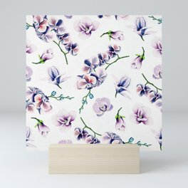 Lavender Blossom Floral Pattern Mini Art Print