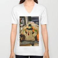 turkey V-neck T-shirts featuring Turkey Time by IowaShots