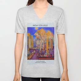 New College Palm Court Party Unisex V-Neck