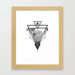 Wiccan Water Element Symbol Pagan Witchcraft Triangle Framed Art Print