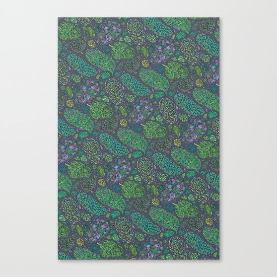 Nugs in Green Canvas Print