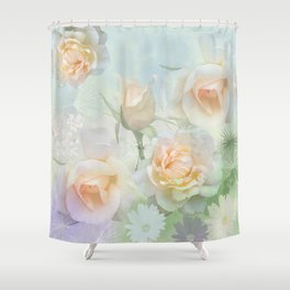 Dreaming of a Rosegarden Shower Curtain