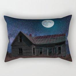 Abandoned House Beneath A Full Moon Rectangular Pillow