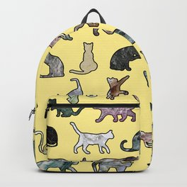 Cats shaped Marble - Sun Yellow Backpack