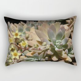Spring Succulent Rectangular Pillow