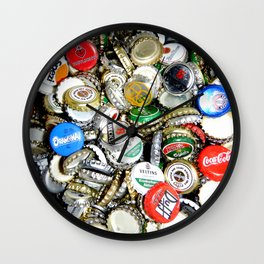 Bottle Caps Painting | Vintage Wall Clock