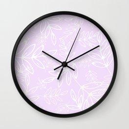Lavender Leaves Wall Clock