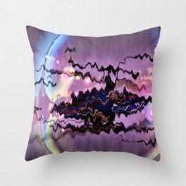 Bulle électrisante Throw Pillow