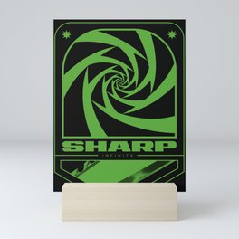 Sharp infinite in radiogreen Mini Art Print
