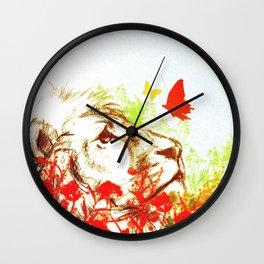 Beast and the Butterflies II Wall Clock