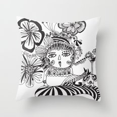 Chill Lady Throw Pillow