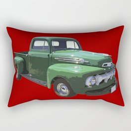 Green 1951 Ford F-1 Pickup Truck  Rectangular Pillow