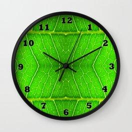 Macro Leaf no 6 Wall Clock
